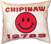 Just Gifts by Robin - Throw Pillows (Smiley with Zip Code)