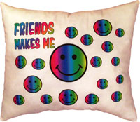 Just Gifts by Robin - Throw Pillows (Friends Make Me Smile)