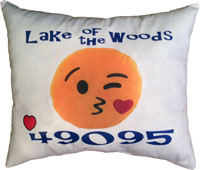 Just Gifts by Robin - Throw Pillows (Emoji Blowing A Kiss)