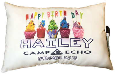 Just Gifts by Robin - Autograph Camp Pillows (Birthday Camp)