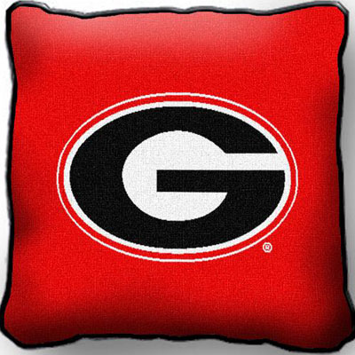 College Throw Pillows (University of Georgia) (1548-P)