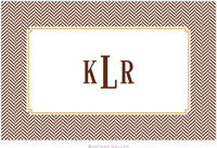 Boatman Geller - Personalized Placemats (Herringbone Chocolate - Disposable)