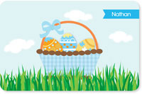 Spark & Spark Laminated Placemats - A Cute Blue Easter Basket