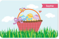 Spark & Spark Laminated Placemats - A Cute Pink Easter Basket