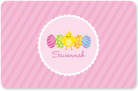 Spark & Spark Laminated Placemats - Easter Chick (Pink)