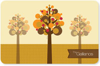 Spark & Spark Laminated Placemats - Fall Trees