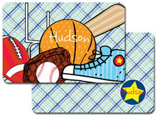 iDesign Laminated Placemats - Sports