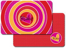 iDesign Laminated Placemats - Spiral Heart