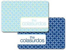 iDesign Laminated Placemats - Turquoise Links