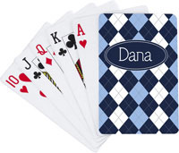 Devora Designs - Playing Cards (Blue Argyle)
