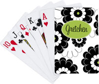 Devora Designs - Playing Cards (Black Lime Floral)