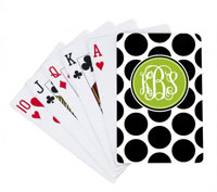 Devora Designs - Playing Cards (Black and White Polka Dots)