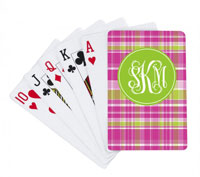 Devora Designs - Playing Cards (Hot Pink Plaid)