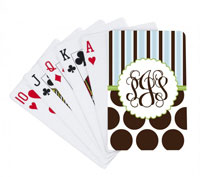 Devora Designs - Playing Cards (Chocolate Dots and Stripes)