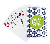 Devora Designs - Playing Cards (Damas Navy and Green)