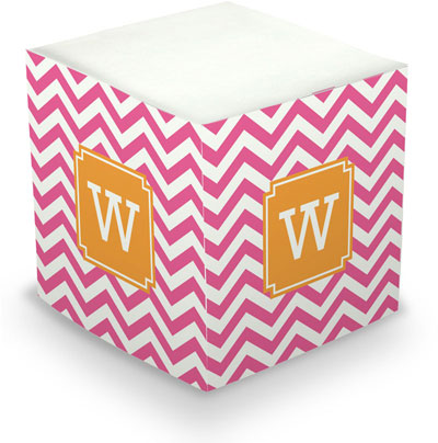 Boatman Geller - Create-Your-Own Sticky Memo Cubes (Chevron)