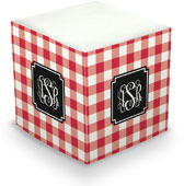 Boatman Geller - Create-Your-Own Sticky Memo Cubes (Classic Check)