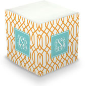 Boatman Geller - Create-Your-Own Sticky Memo Cubes (Trellis Reverse)