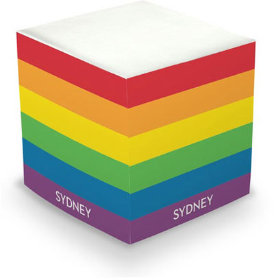 Chatsworth Sticky Memo Cube - Rainbow Stripes (675 Self-Stick Notes)
