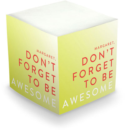 Sticky Memo Cubes by The Boatman Group - Be Awesome (675 Self-Stick Notes)