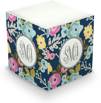 Sticky Memo Cubes by The Boatman Group - Bloom Navy (675 Self-Stick Notes)