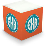 Great Gifts by Chatsworth - Decorative Memo Cubes/Sticky Notes (Orange)