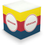 Great Gifts by Chatsworth - Decorative Memo Cubes/Sticky Notes (Stripe Yellow Red & Liberty)