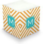 Dabney Lee Personalized Sticky Note Cubes - Chevron