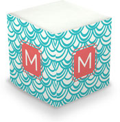 Dabney Lee Personalized Sticky Note Cubes - Seashells