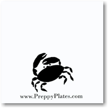Preppy Plates - Personalized Coasters (Cordon Blue)