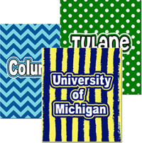 Create-Your-Own Plush College Blankets