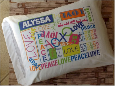 A Personalized Graffiti Pillowcase - Girl