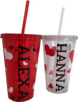 Acrylic Cups - Personalized (Valentine's Day)