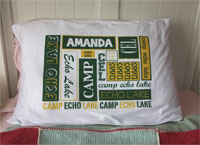 A Personalized Pillowcase - Camp