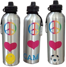 Personalized Sports Bottles (Metal - Peace-Love)