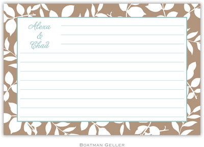 Boatman Geller - Create-Your-Own Personalized Recipe Cards (Silo Leaves)