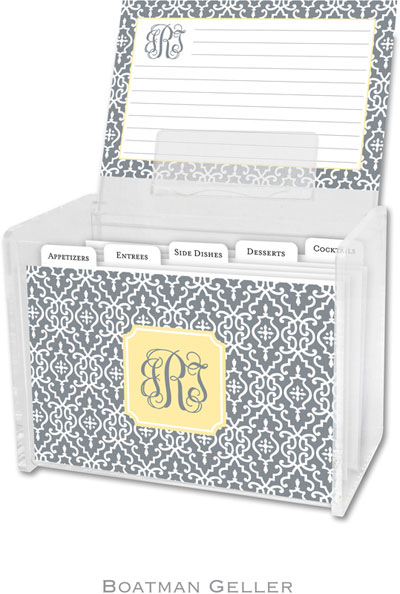 Boatman Geller - Create-Your-Own Personalized Recipe Card Boxes with Cards (Wrought Iron)