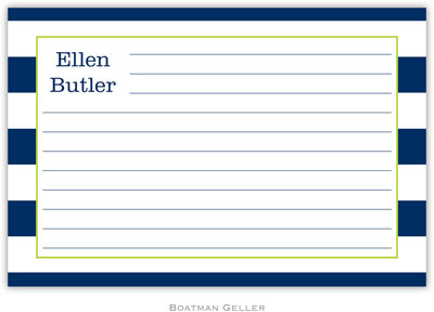 Boatman Geller - Create-Your-Own Personalized Recipe Cards (Awning Stripe)