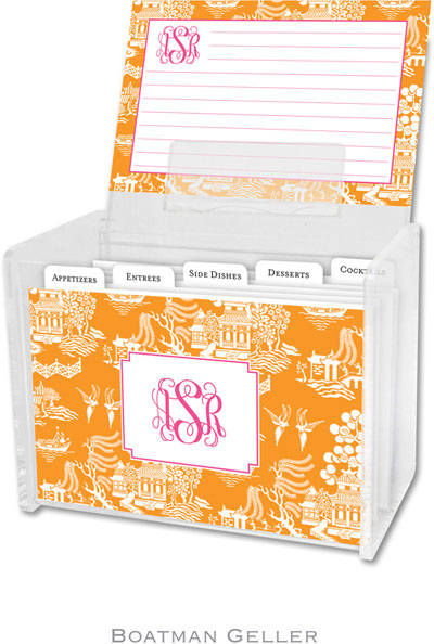 Boatman Geller - Create-Your-Own Personalized Recipe Card Boxes with Cards (Chinoiserie)