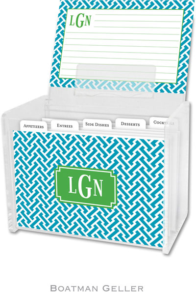 Boatman Geller - Create-Your-Own Personalized Recipe Card Boxes with Cards (Stella)