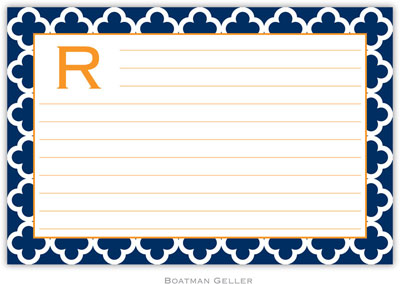 Boatman Geller - Create-Your-Own Personalized Recipe Cards (Bristol Tile Navy)