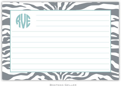Boatman Geller - Create-Your-Own Personalized Recipe Cards (Zebra Gray)