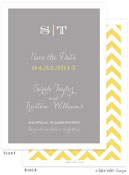 Take Note Designs Save The Date Cards - Classic Grey Simplicity