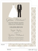 Take Note Designs Save The Date Cards - Bride and Groom to be