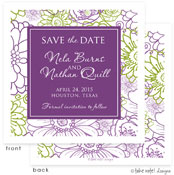 Take Note Designs Save The Date Cards - Floral Bunch Purples