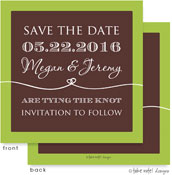 Take Note Designs Save The Date Cards - Coffee and Lime Tie the Knot