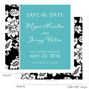 Take Note Designs Save The Date Cards - Black Vine Border