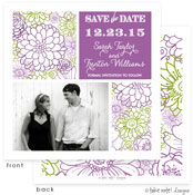 Take Note Designs Save The Date Cards - Beautiful Floral Squares