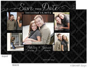 Take Note Designs Save The Date Cards - Damask Beautiful Photo Layout