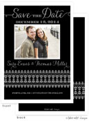 Take Note Designs Save The Date Cards - Fancy Band on Black